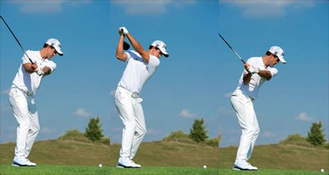 adam scott golf swing down the line a modern classic adam scott swing sequence