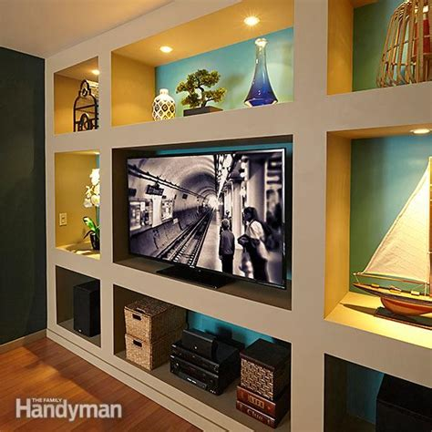 showcase built  bookcase plans  family handyman