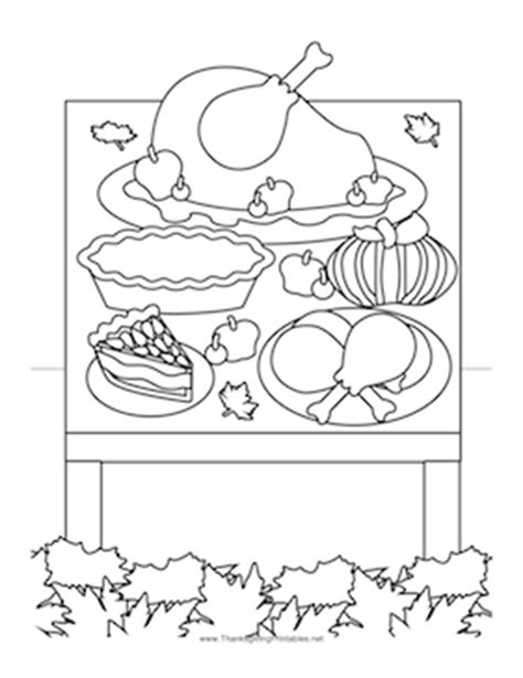 coloring page of thanksgiving dinner thanksgiving dinner coloring page