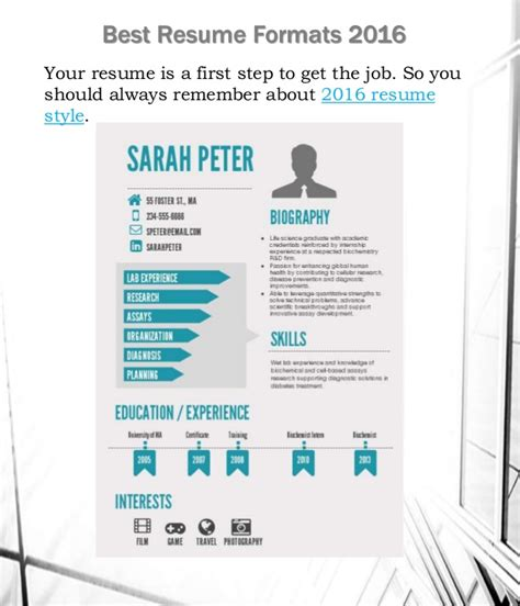 How To Make A Resume With Only One Job by The Best Resume Formats 2016