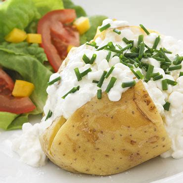 Potato And Cottage Cheese by Jacket Cottage Cheese Food On Third