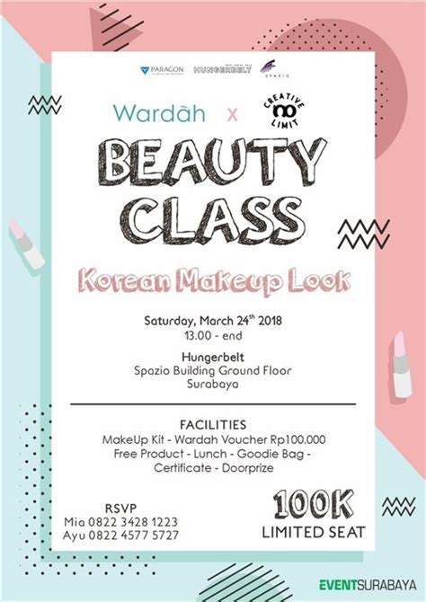 wardah beauty class korean makeup  eventsurabaya