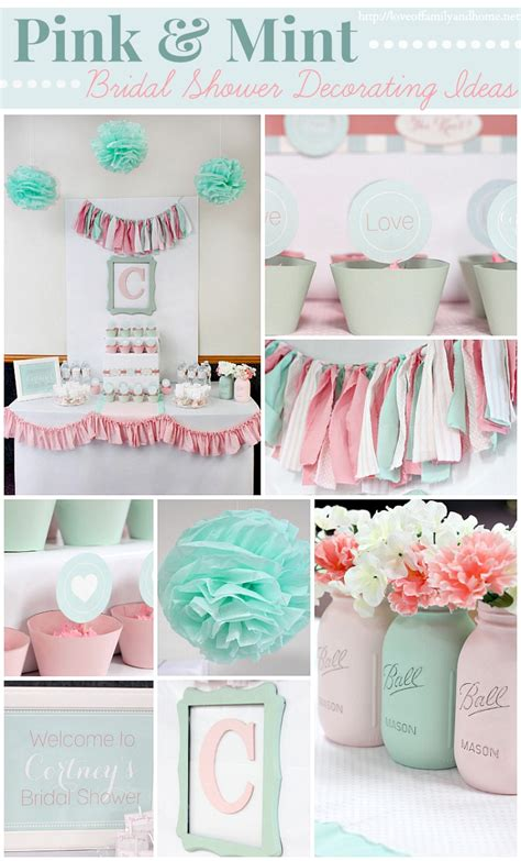 colors for baby shower pink and mint bridal shower my s bridal shower