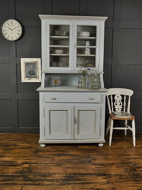 shabby chic pastel blue grey antique pine kitchen dresser by the treasure trove shabby chic