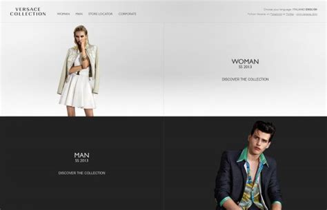 web design inspiration fashion sites versace collection international fashion brands