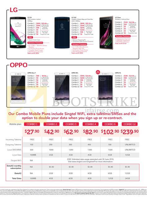oppo mobile price list singtel mobile phones combo plans lg oppo g4 v10