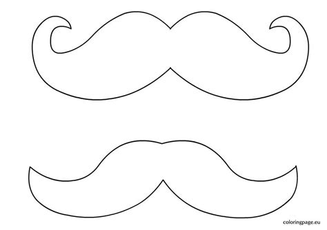 mustache print out template mustache coloring page coloring home