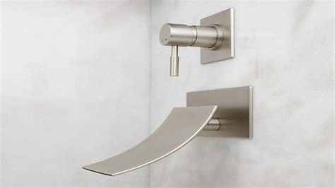 wall mount tub faucet home element reston wall mount waterfall tub faucet wall