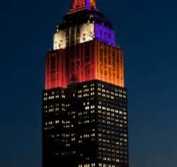 what color is the empire state building tonight photo the empire state building is in alabama clemson