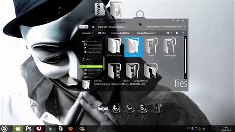 theme for windows 7 anonymous pack de personaliza 231 227 o anonymous youtube