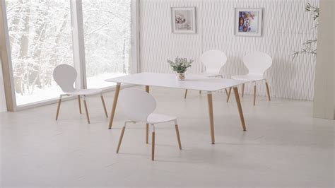 white dining table and 6 chairs homegenies