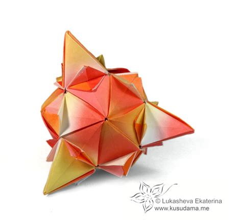 How To Make An Origami Spiky - kusudama me modular origami spiky sonobe unit