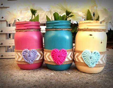 painted decorated mason jars