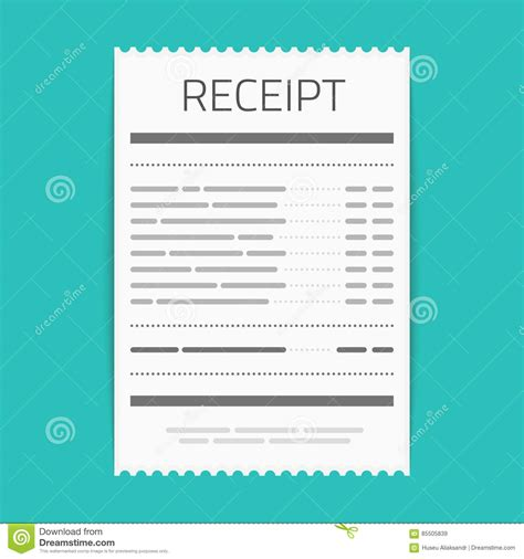 sle invoice vector bank check template icon graphic vector illustration