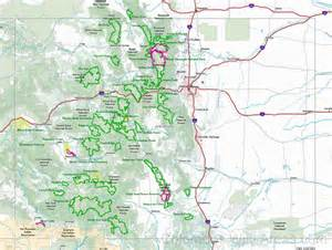 colorado region map colorado wilderness map colorado s areas