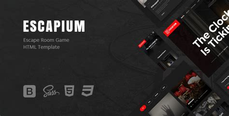 Escapium Escape Room Game Html Template Free Nulled Themes Escape Room Waiver Template