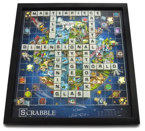 scrabble special edition 3d scrabble world limited edition by charles fazzino