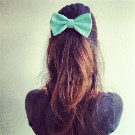 Big Bow With mint bow big hair bow