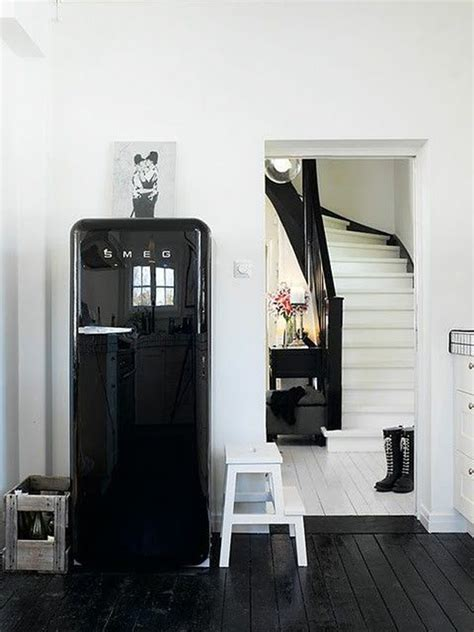 black and white smeg decor