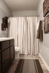 Striped Door Curtain The Yellow Cape Cod Boy S Bathroom Reveal Using Two