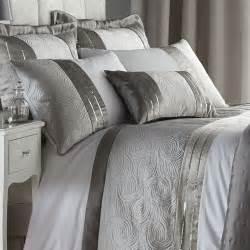 Grey Linen Duvet Cover Catherine Lansfield Gatsby Silver Sequin White Duvet Quilt
