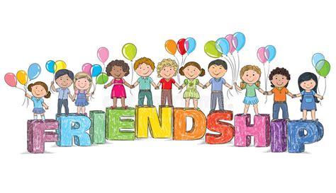 clipart amicizia bambini sull amicizia di parola illustrazione vettoriale