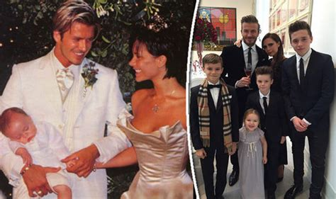 The Beckhams Are by And David Beckham Celebrate Their 16th Wedding