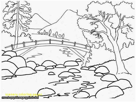 Landscape Coloring Pages Colouring In Tiny Draw Beautiful Printable Scenery For Adults To Print Printable Scenery Coloring Pages