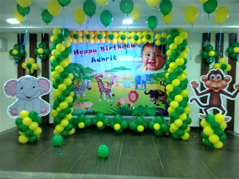 themed birthday party supplies bangalore jungle theme birthday party balloon decoration bangalore