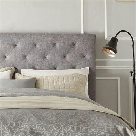 buy tufted headboard w foam modern button tufted upholstered padded square