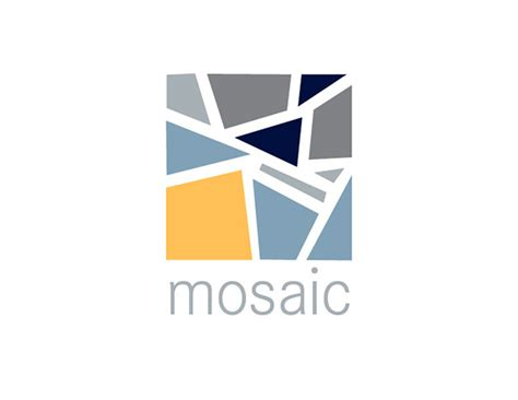 mosaic pattern logo mosaic and win logos on behance