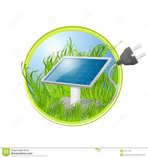 eco logo of solar panel stock vector image of panel