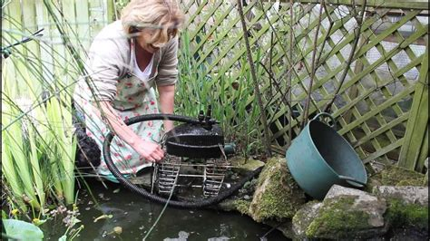 how to clean a backyard pond how to clean a pond pump youtube