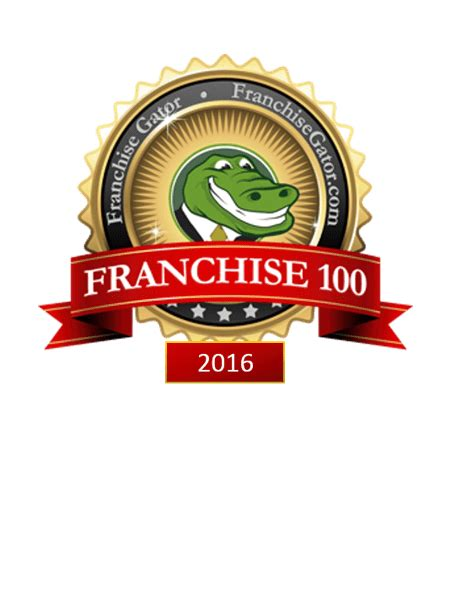 franchise gator top 100 franchises january 2017 autos post
