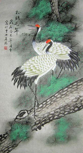 crane painting longevity crane painting wall scroll http www