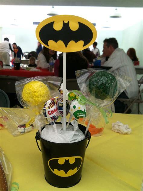 batman centerpieces ideas batman centerpiece with cake pops emmanuel s ideas cake pop pretzel