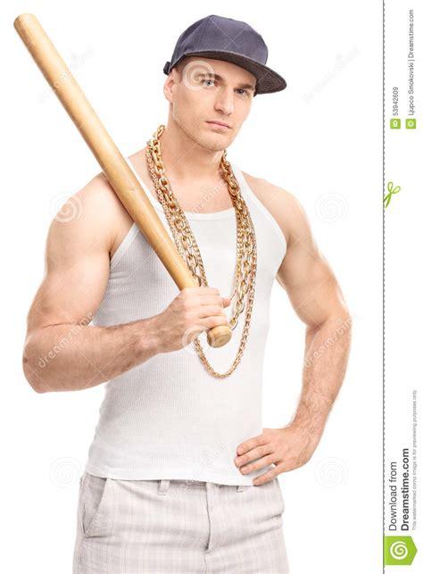gangster film baseball bat gangster holding a baseball bat stock image image 53942609
