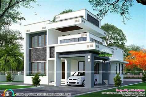 Home Design For 1800 Sq Ft by 1800 Sq Ft Floor 3 Bedroom Home With Floor Plan Kerala