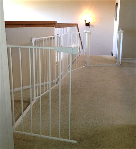 banister baby gates custom large and wide child safety gates baby safe homes