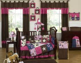 Western Baby Nursery Decor Pink And Brown Designer Western Themed Baby Crib Bedding Set Ebay