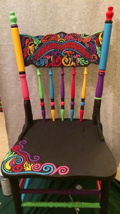 17 best ideas about painted chairs on painted chairs painted stools and