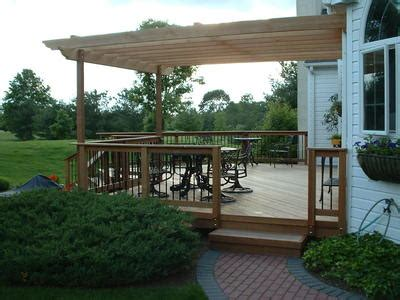 Adding A Pergola To A Deck by Adding Shade To A Deck St Louis Decks Screened Porches