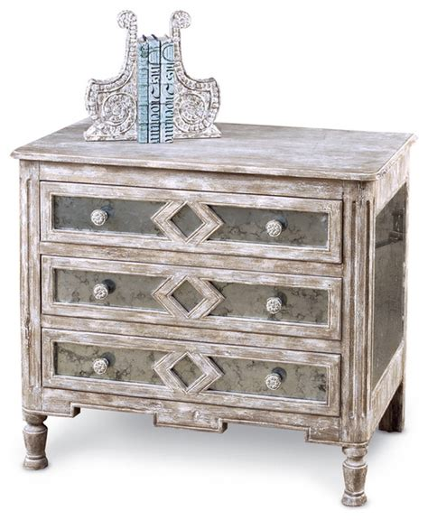 small country accent ls calais french country antique mirror bedside chest