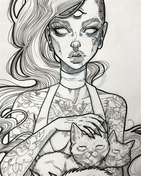 the cat lady i like this style minus the third eye