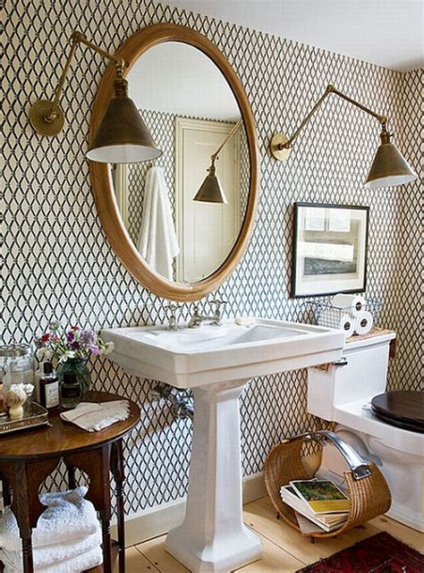 Unusual Mirrors For Living Rooms by How To Add Elegance To A Bathroom With Wallpapers