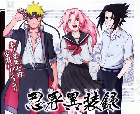 konoha high school konoha gakuen den sasuke school by kmvw on