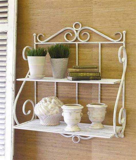 Wall Hanging Bakers Rack Ironstone Wrought Iron Furniture Tops