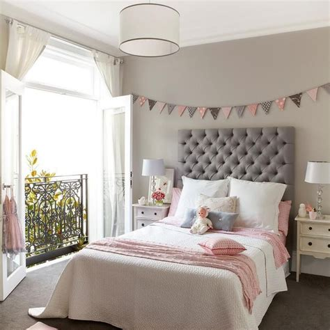 pink and gray bedrooms pink and gray girl s room features walls painted a warm