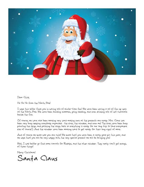 printable personalized letters from santa easy free letters from santa claus to children