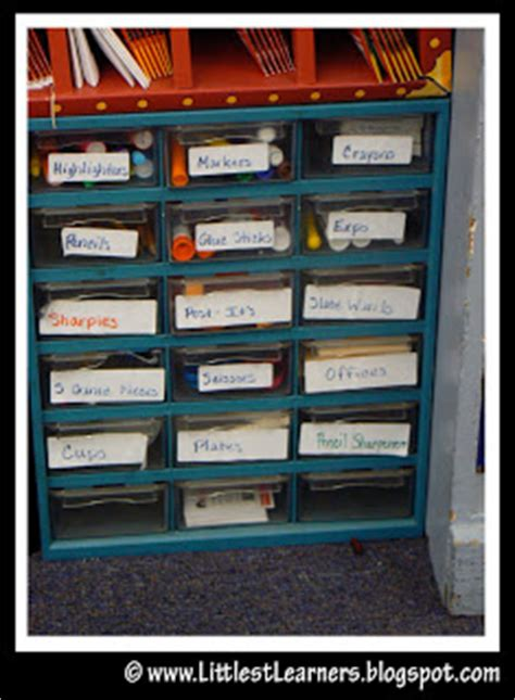 Classroom Drawers by Littlest Learners Clutter Free Classroom Hardware